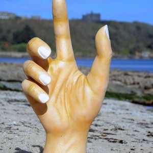 Giant hand artistic prop carved out of polystyrene