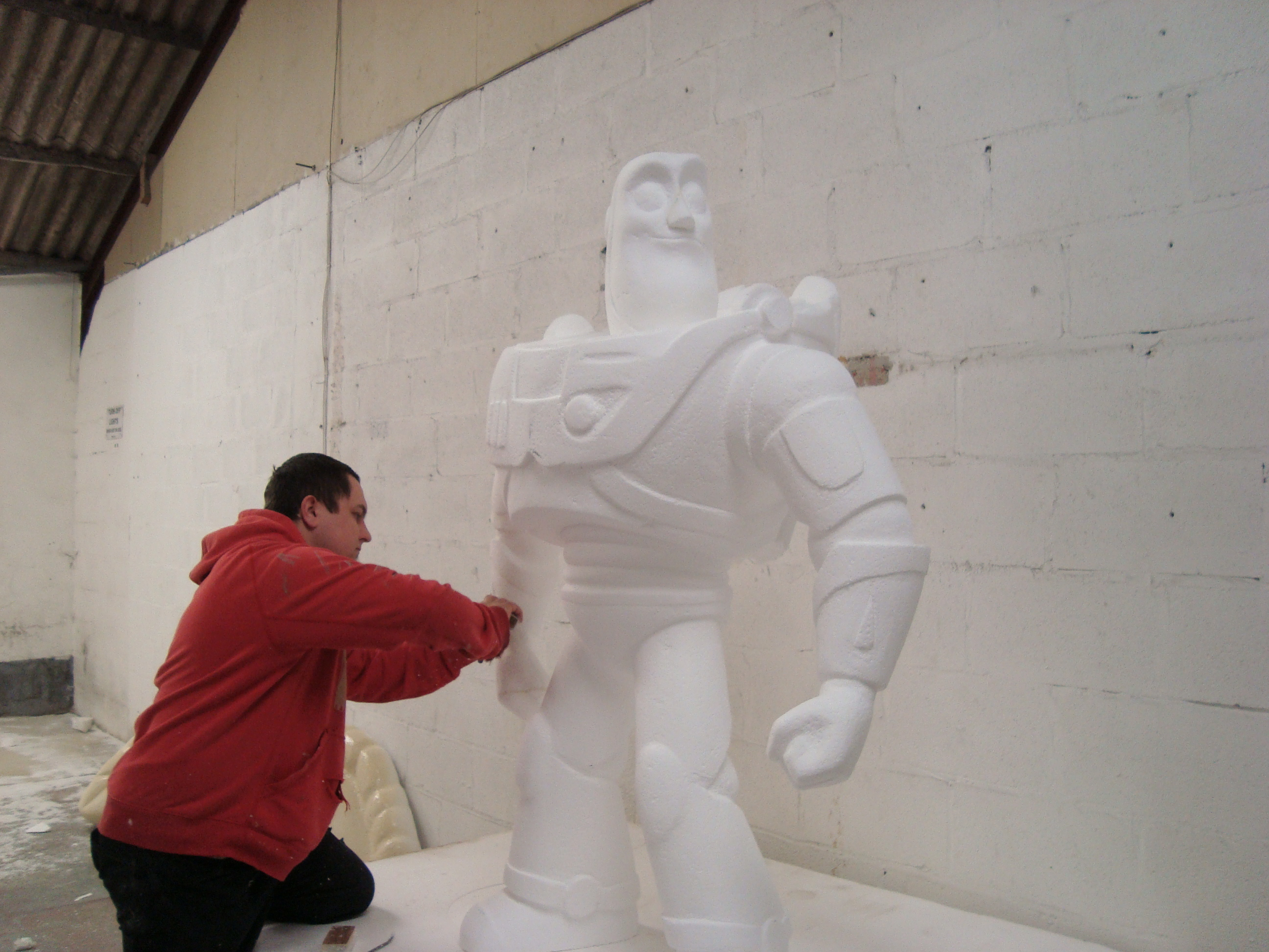 polystyrene sculpture Cornwall
