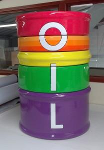 interactive puzzle oil drum