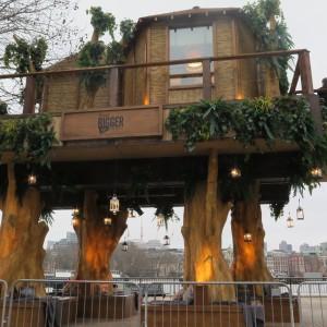 tree trunks creation - virgin tree house london