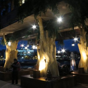 tree trunks creation - virgin tree house london