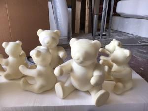 Teddy bear production