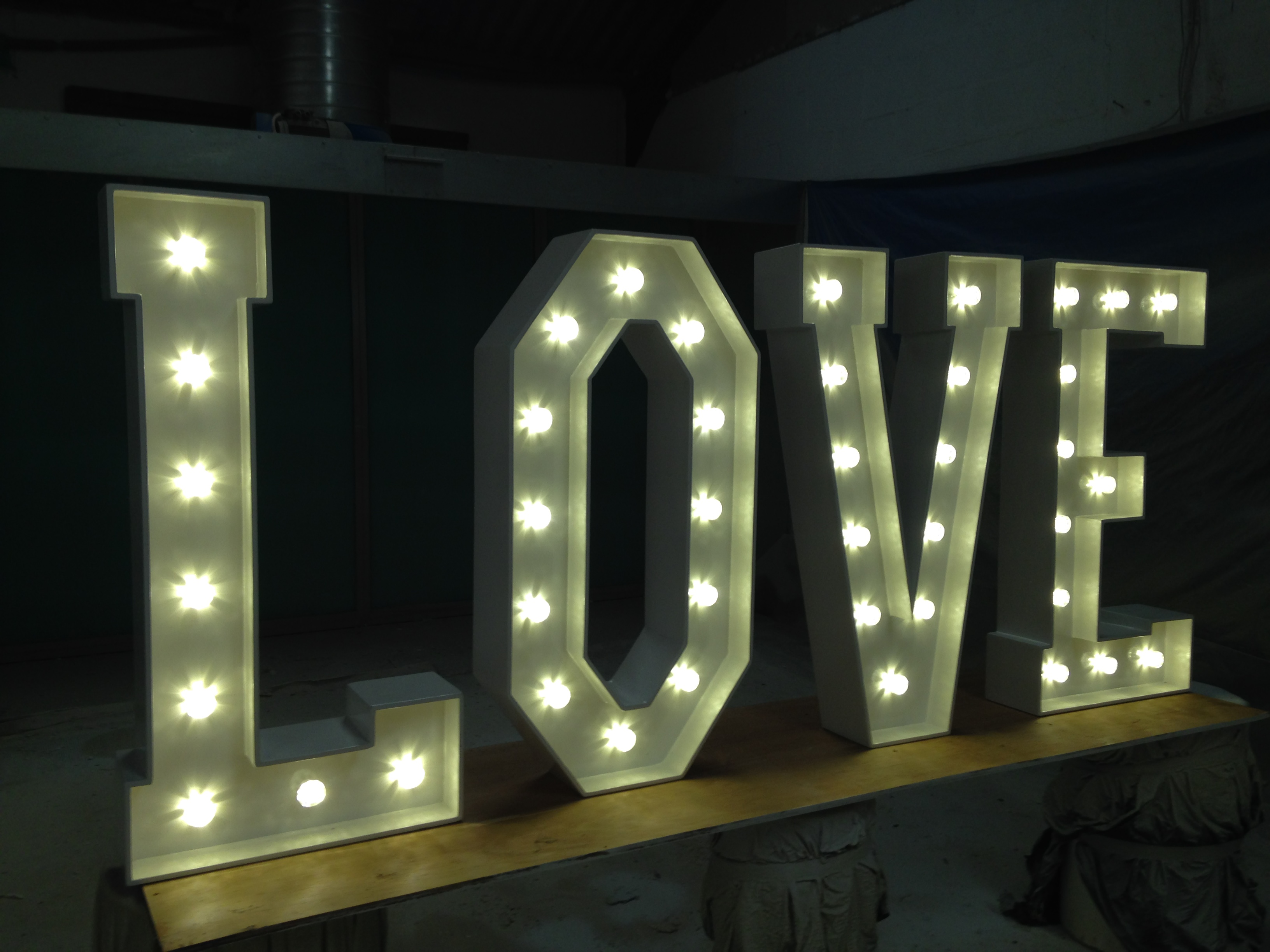 wireless freestanding light up letters