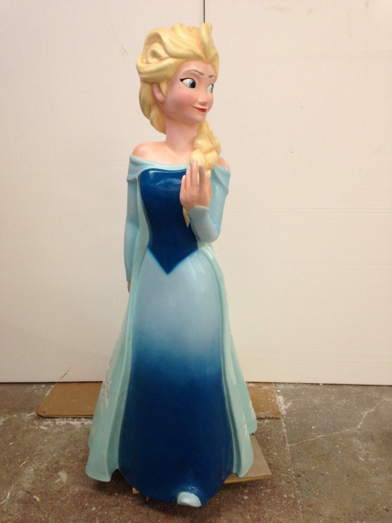 """Elsa"" scaled up model from disney character Frozen"