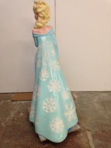 Disney character Elsa from Frozen - Snowflakes