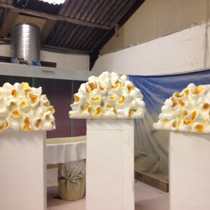 Giant Popcorn produced for Candy cloud installation