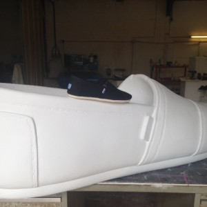 Hand carved giant Toms shoe prop 3d model