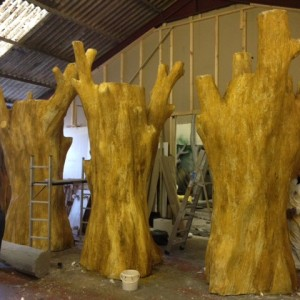 artificial trees for African themed tree house from Virgin Holidays