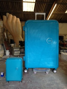 Giant American Tourister suitcase we created