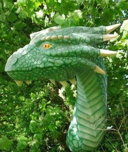 Life size Dragon model