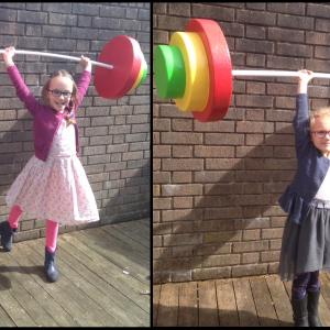 light weight weight lifting props