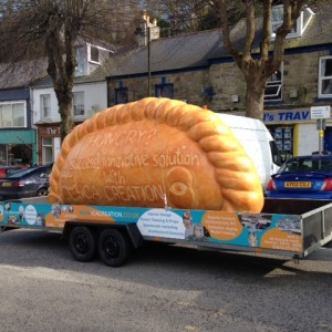 Giant Cornish pasty prop