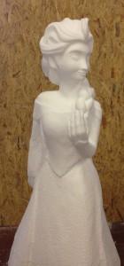 polystyrene sculpture - Elsa in the making