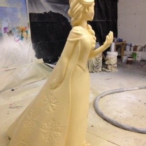 Spray applied polyurethane on bespoke model