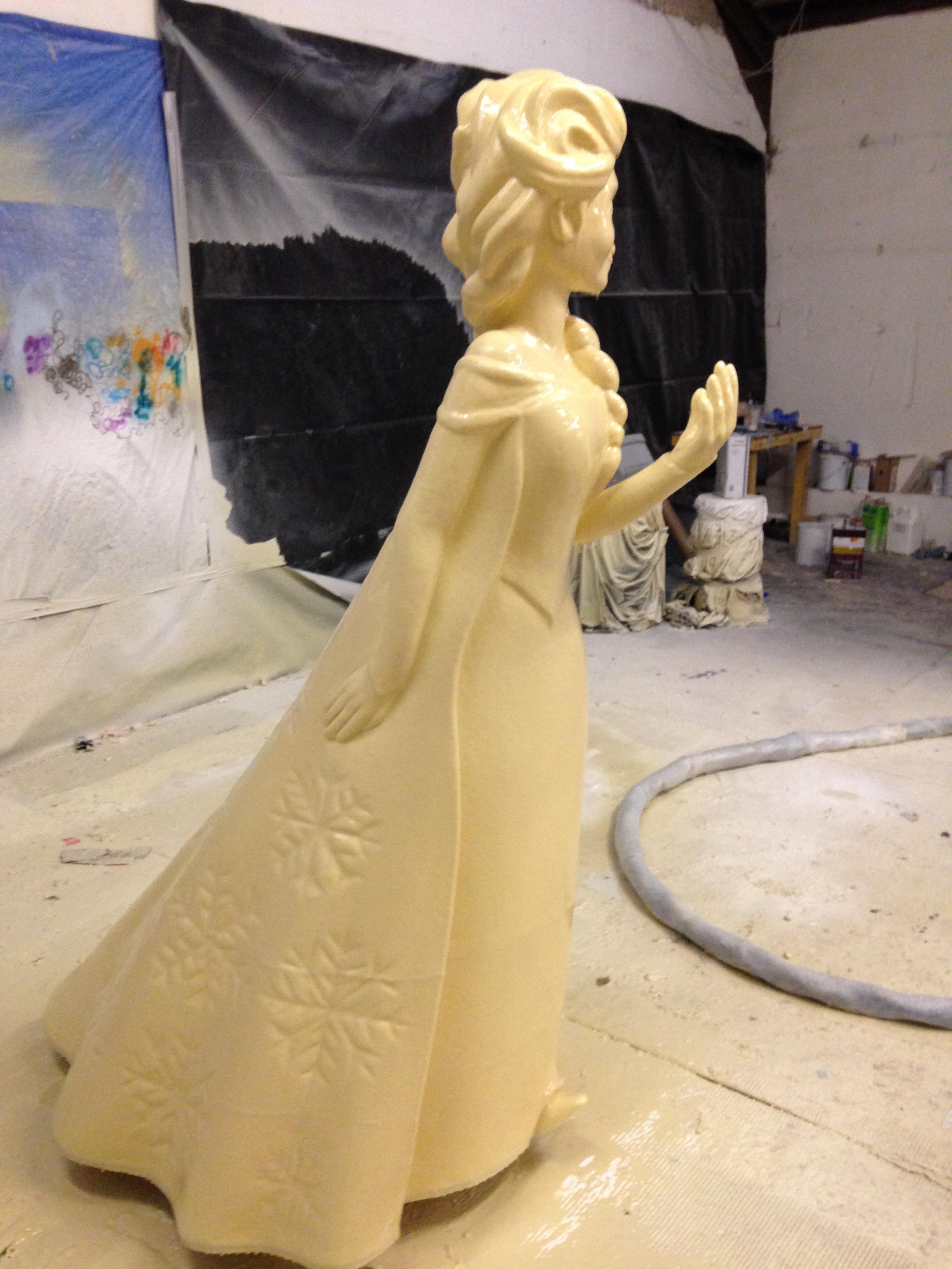 Spray applied polyurethane on bespoke model