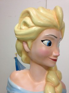 Scaled up model of Elsa from Disney's Frozen