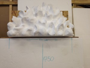Giant hand carved polystyrene popcorn