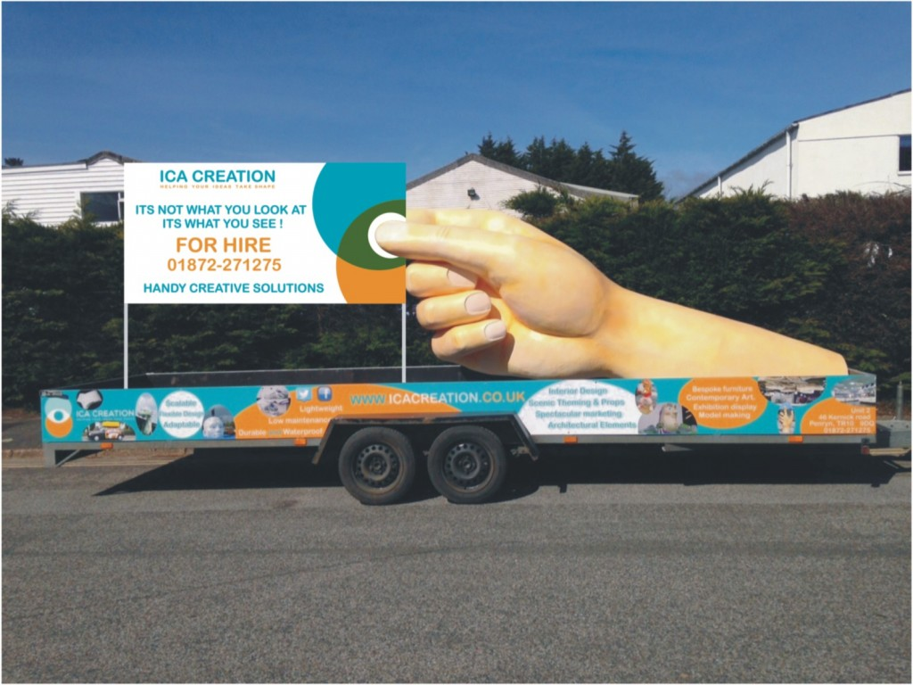 Outdoor advertising tool - giant hand