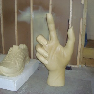 polyurethane coating onto bespoke 3d models for special display