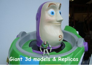 Giant 3d models and replicas