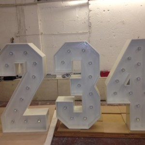 1m light up numbers in the making
