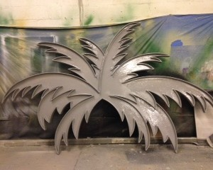 coating application palm tree