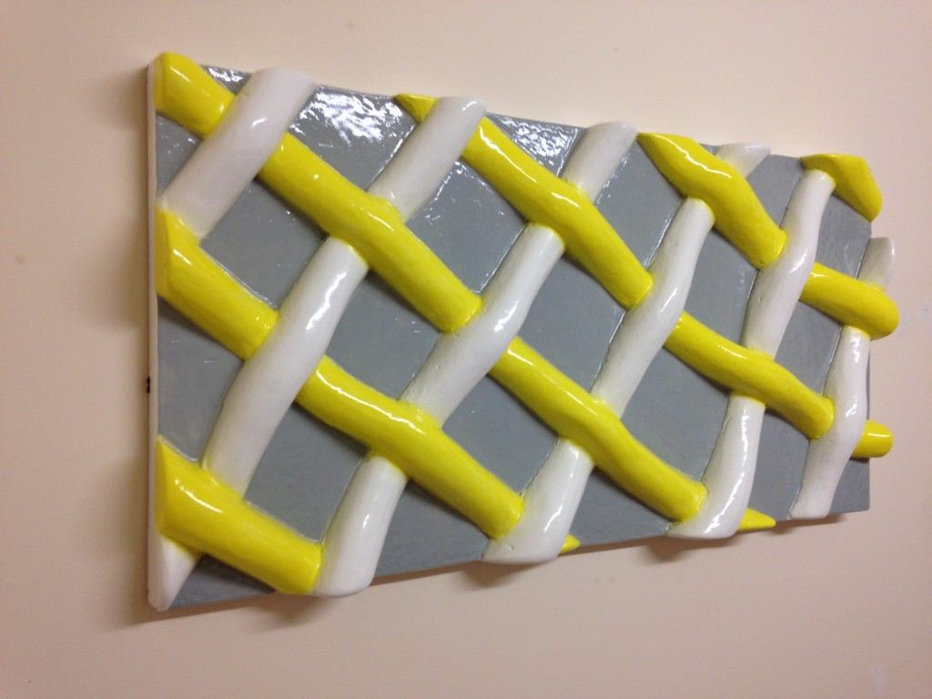Bespoke 3d wall panel, network pattern