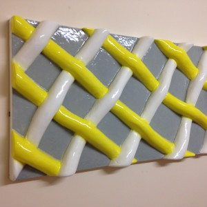 Bespoke 3d wall panel, network pattern