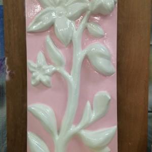 Bespoke 3d panel flower pattern