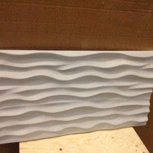 Wavy panel prototype almost ready in our material!