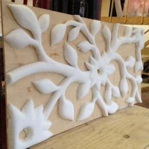 During production of prototype - bespoke 3d panel sample