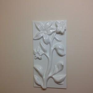 Bespoke 3d wall panel - white flower