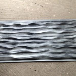 External 3d panel - wavy pattern
