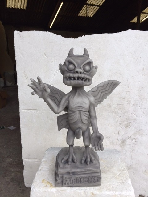 Gargoyle sculpture we created for Gorillaz