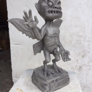 Gargoyle sculpture we created for Gorillaz