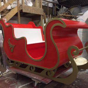 Santa's sleigh we created