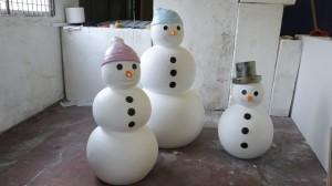 custom made snowmen props