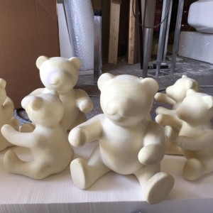Teddy bear production