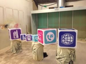 3d icon cubes