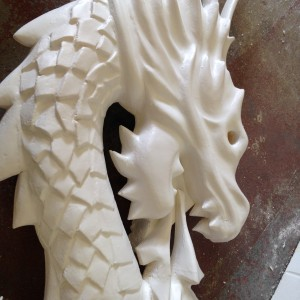 Giant dragon carved out of polystyrene