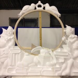 Magical frame for clock, imaginative sculptural elements
