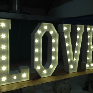 Wireless, freestanding light up letters