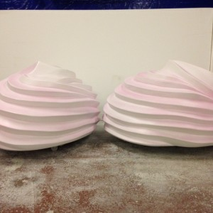 Giant meringues produced for Candy cloud installation