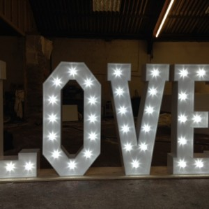 1.20m light up letters - led fairground lightbulbs