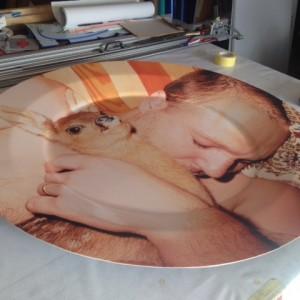 We created giant dinner plates for Juergen Teller ltd