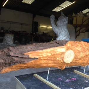 drift wood replica in the making