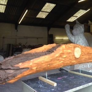 drift wood replica in the making