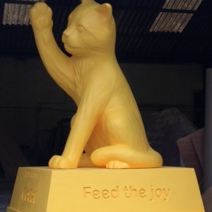 Bobo the cat sculpture