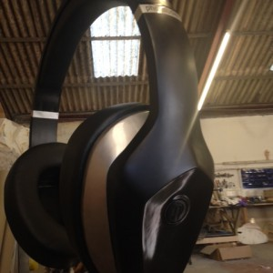 Giant head phones in the making!