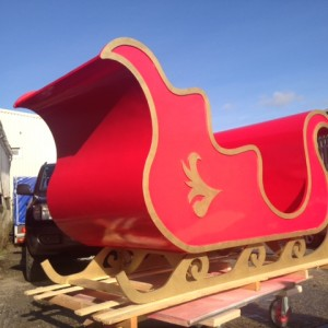 Santa's sleigh made in Cornwall - UK